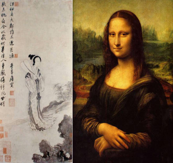 唐伯虎《秋风纨扇图》与达芬奇《蒙娜丽莎的微笑》